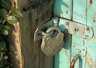 padlock on door at allotments | by lizjones112