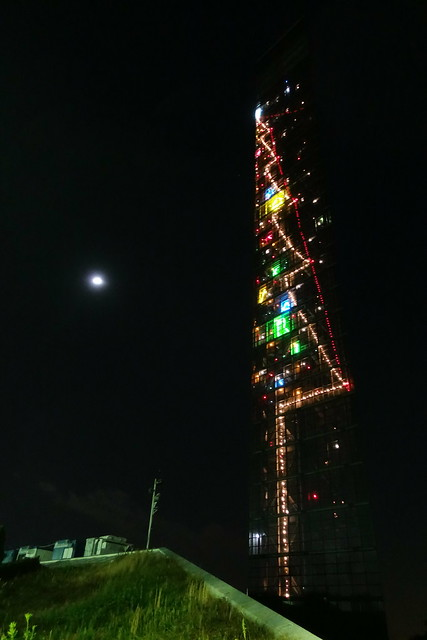 Chiba port tower holiday tree 01