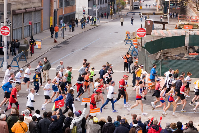 Overhead Shot of NYC Marathon