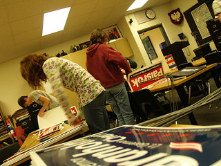 MOCK ELECTION: Assembling Signs | by farlane