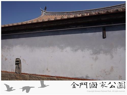 瓊林鑲壁石獅(宗祠後)-01
