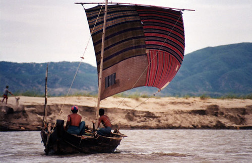 boat on the irrawaddy | by tap tap tap