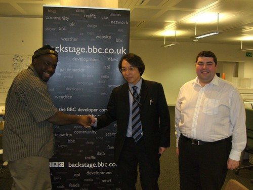 Toshio Kuramata from NHK and BBC Backstage | by mattcashmore