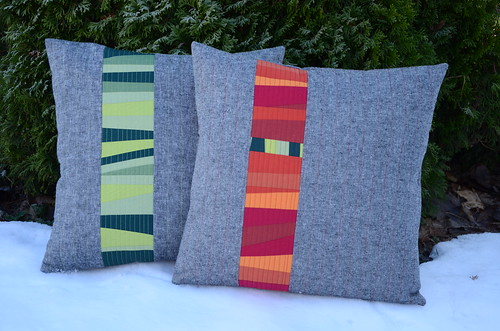 improv Christmas pillows by Poppyprint