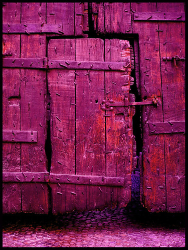 Bloody red purple door in Avignon, France | by Semi-detached