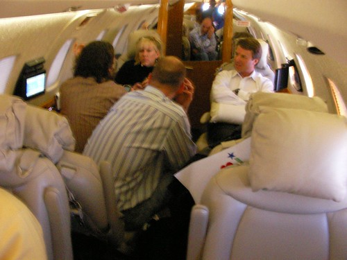 Edwards on plane (update: Rielle Hunter sitting next to him) | by Robert Scoble