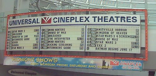 now showing at universal cineplex the wide variety of