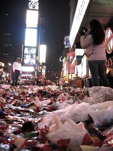 Times Square Trash, New Year's 2007 | by Windfucker