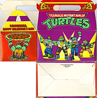 "MELLO SMELLO :: ""TEENAGE MUTANT NINJA TURTLES"" Valentine Kit .. ""POP-UP"" tote box i (( 1994 )) 