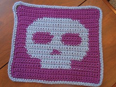 Skully potholder | by Mopped Top