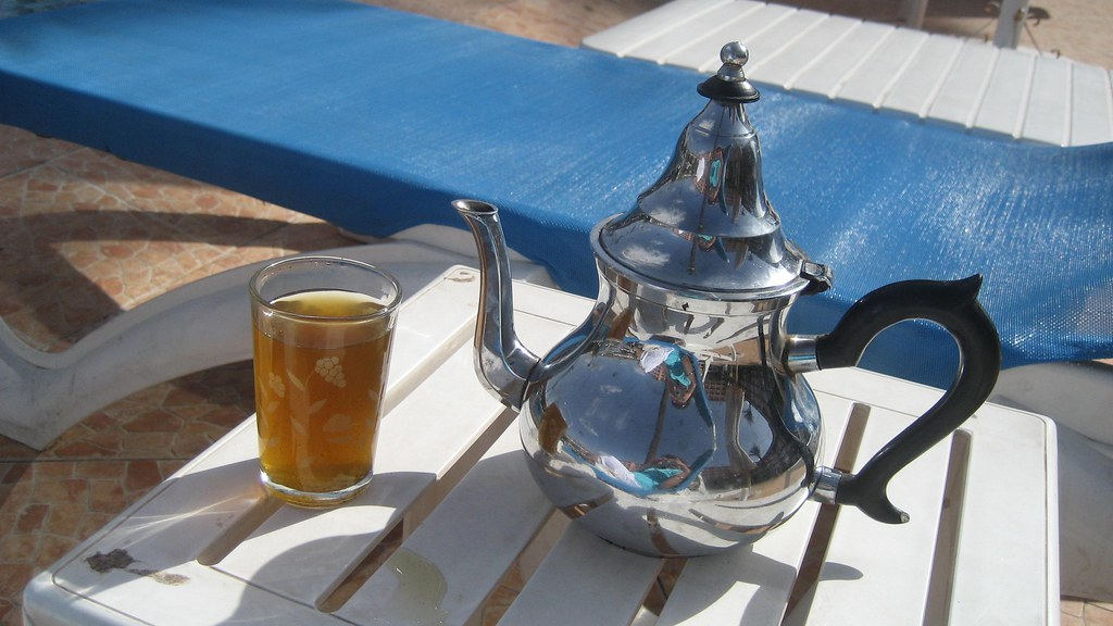 my mint tea by the pool Marrakesh