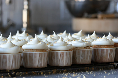 jackfruit, banana, and peanut cupcakes with cream cheese frosting | by chockylit