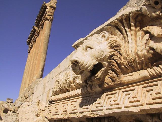 Lions head, Roman ruins, Ballbek, Lebanon
