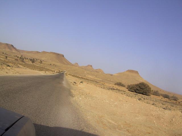 Desert road, Tunisia