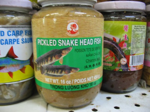 yum! pickled snake head fish | by erinpk