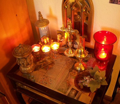 My home altar by candlelight! | by Rinabobina