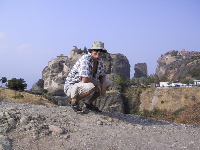 Hubbers at Meteora, Greece