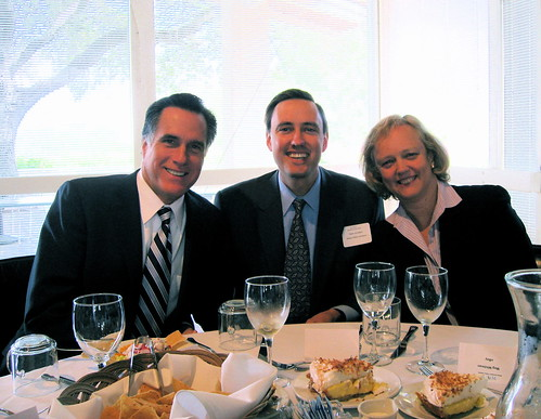 Mitt Romney & Meg Whitman | by jurvetson