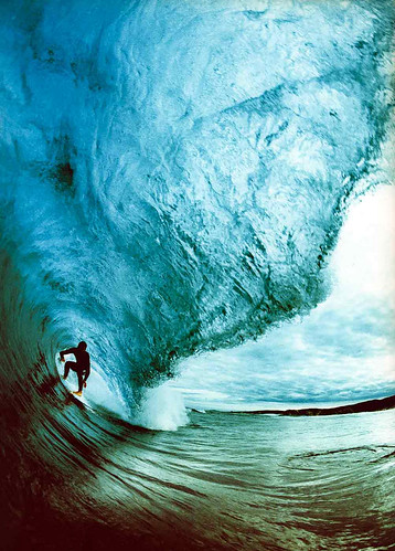 Surfing a big wave | by Andy Sparks