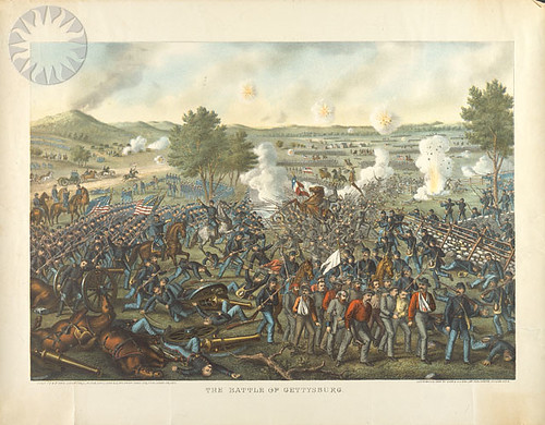 Battle of Gettysburg - General Crawford's Charge on the Rebel Lines ...