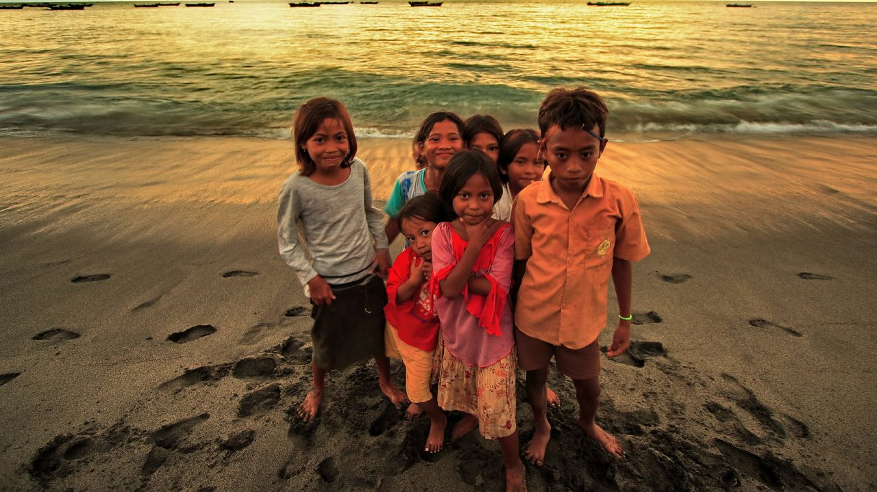 Fisherman Kids, Ampenan Lombok Indonesia