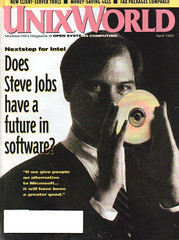 Steve Jobs on the cover of April 1993 UnixWorld | by mrbill