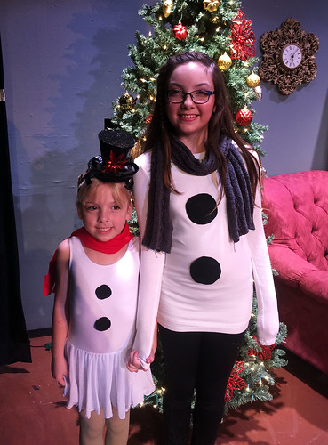 Phoebe and Julia after their Christmas show