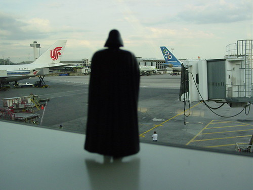 Darth Vader prepares for takeoff. | by finslippy
