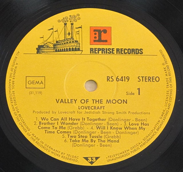 "LOVECRAFT VALLEY OF THE MOON orig REPRISE RS 6419 12"" LP VINYL"