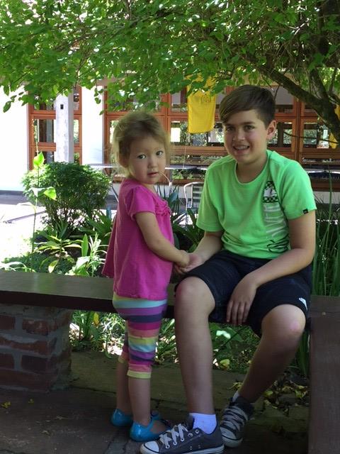 Leela and her sangha friend Erik. Image courtesy of the author