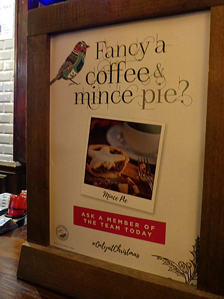 fancy a coffee and a mince pie ?
