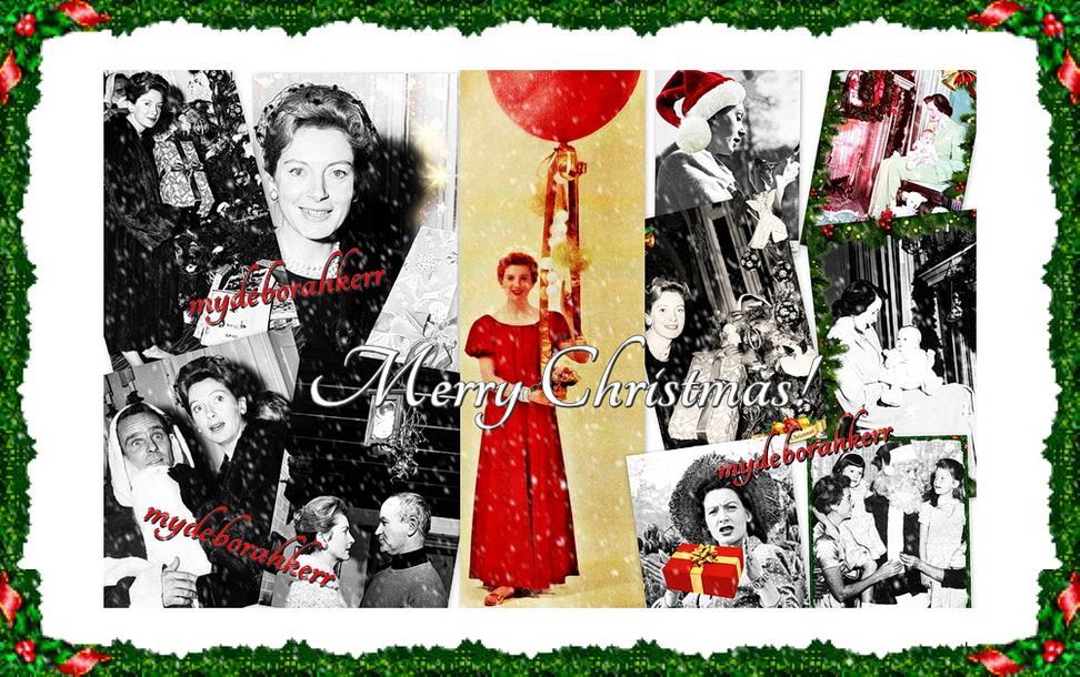 Christmas banner snow