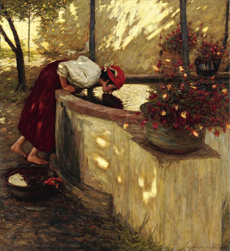 Henry Herbert La Thangue - Ligurian Roses