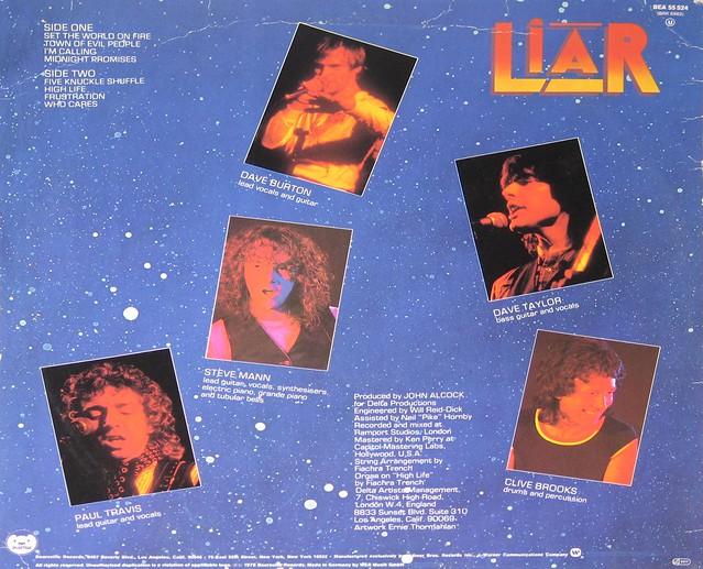 "Liar Set The World on Fire 12"" vinyl LP"