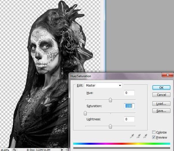 Как создать леденящий портрет девушки на Хэллоуин