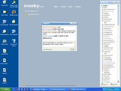 meebo on my active desktop | by abunchofrandom