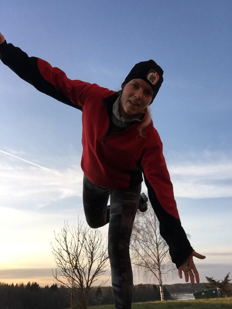 Löpning - krispigt kallt och strålande sol