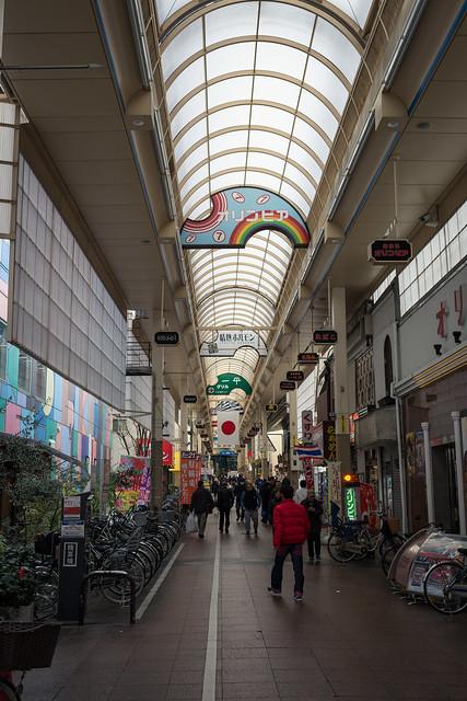 神戸・新開地のアーケードの写真