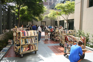 used book sale in flora thornton courtyard | by jimw
