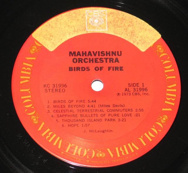 """Mahavishnu Orchestra Birds of Fire 12"""" vinyl LP"""