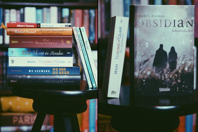 Jahresbüchercollage