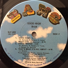 BRICK:GOOD HIGH(LABEL SIDE-B)
