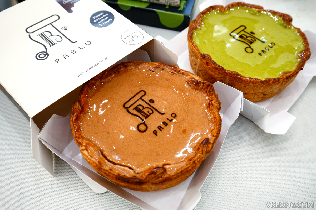 Pablo Chocolate and Matcha Cheese Tart