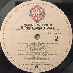 MICHAEL MCDONALD:IF THAT'S WHAT IT TAKES(LABEL SIDE-B)