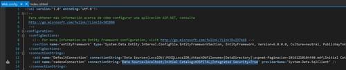 5.Paginación con ASP.NET en Visual Studio webconfig
