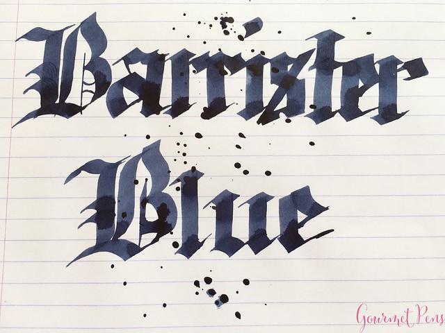 Ink Shot Review Blackstone Barrister Blue @AppelboomLaren7
