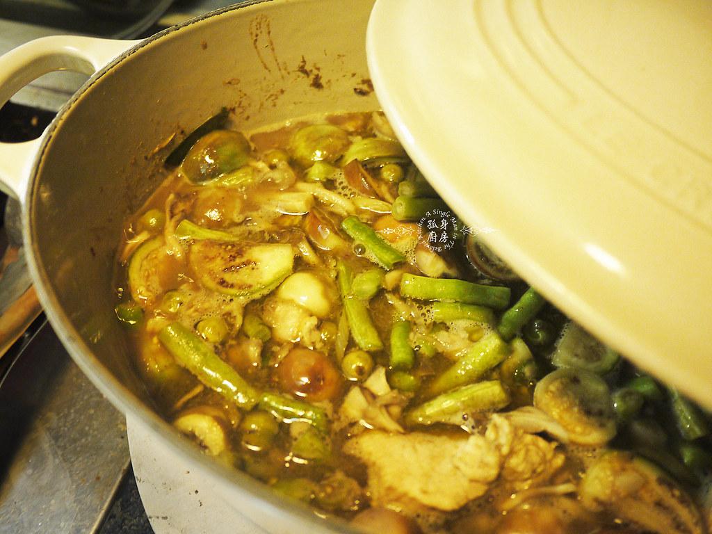 孤身廚房-滿滿新鮮香料版的泰式綠咖哩雞25