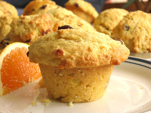 Orange, Dried Cranberry  and Cornmeal Muffins with Millet