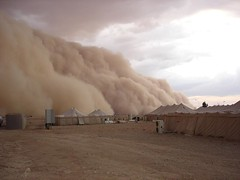 Sandstorm in Iraq | by tobo
