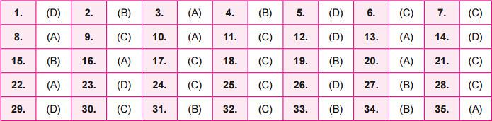 NSO Answer Key 2016 for Set B - Class 3